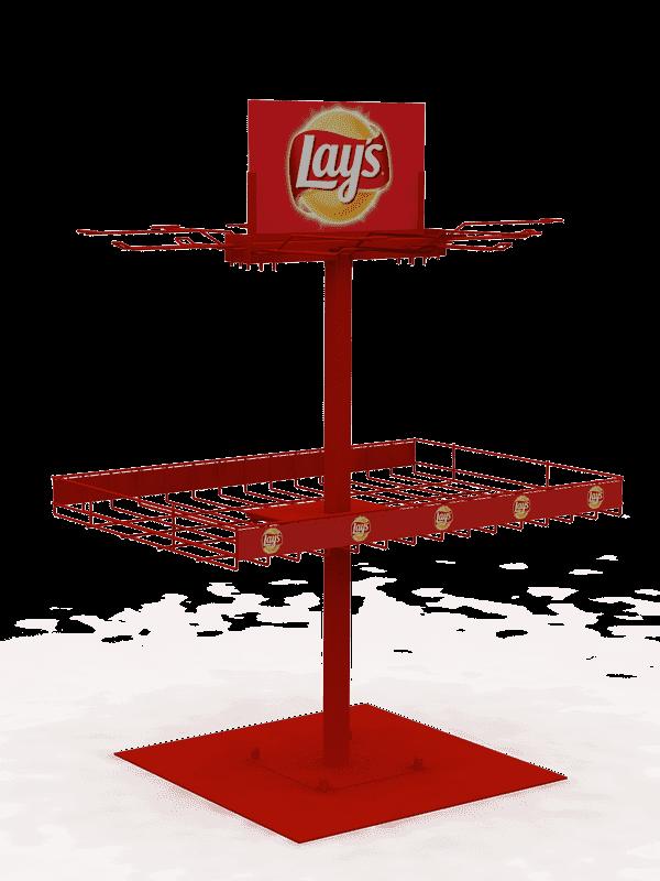 Стойка напольная для чипсов Lays