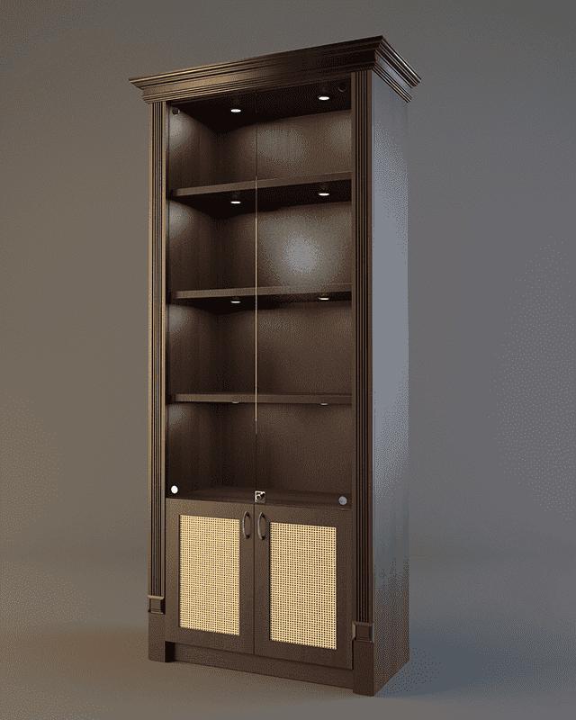 Шкаф для элитного алкоголя LD 001 (со стеклянными дверцами)