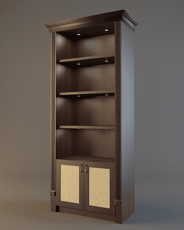 Шкаф для элитного алкоголя с зеркалом и подсветкой V 023
