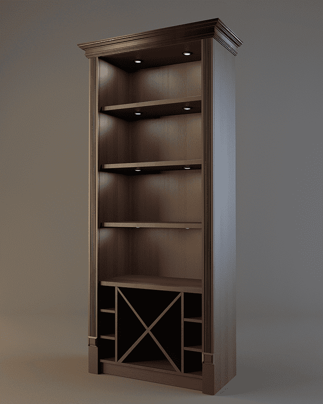 Шкаф для алкогольных напитков с зеркалом и подсветкой V 019
